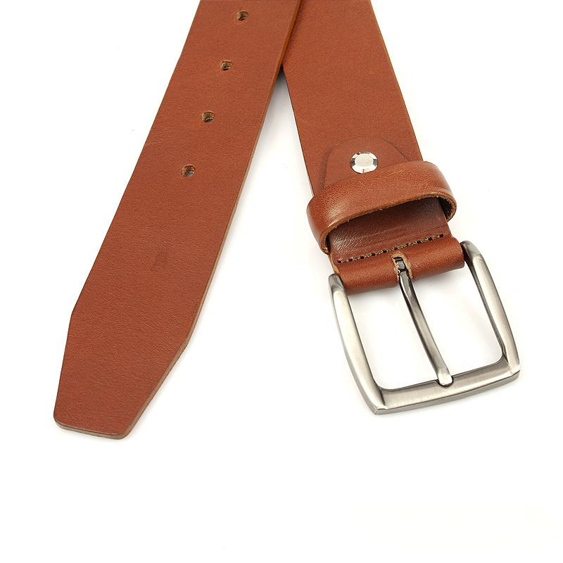 JV Belts Leren jeansriem middenbruin