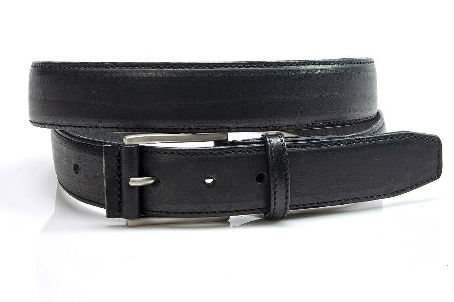 JV Belts Zwarte leren heren riem