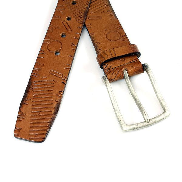 Gilmart Stoere jeans riem tabak bruin