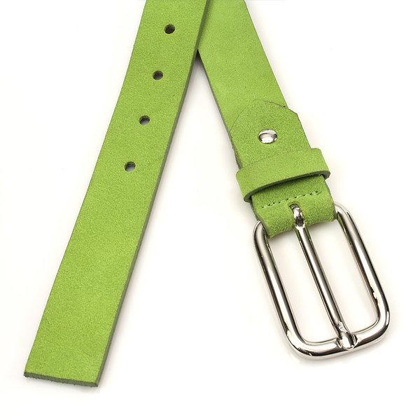 JV Belts Hippe lime kleurige suède dames ceintuur