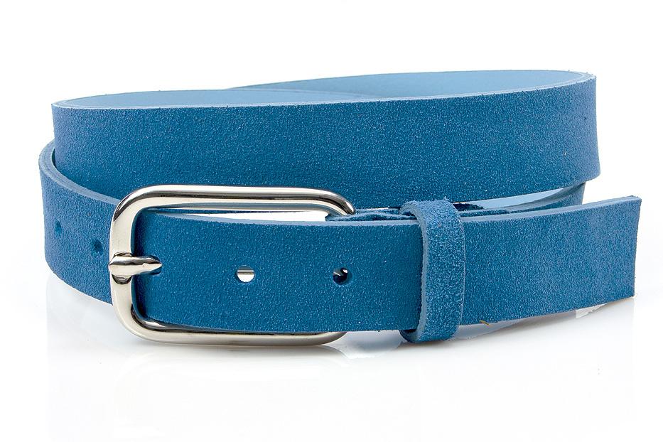 JV Belts Hippe jeans blauwe suède dames ceintuur