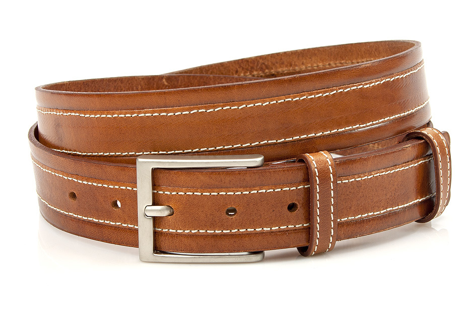 JV Belts Cognac kleurige pantalon riem