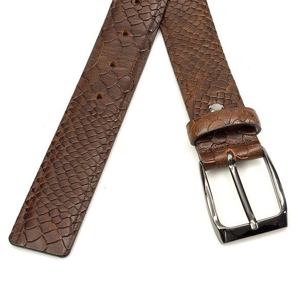 JV Belts Mooie kroko riem bruin