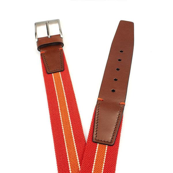 Gilmart Elastische rood oranje heren riem
