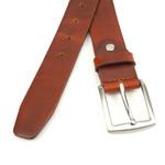 Thimbly Belts Roodachtige cognac kleurige pantalon riem
