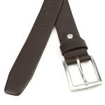 Thimbly Belts Bruine gebolleerde pantalonriem