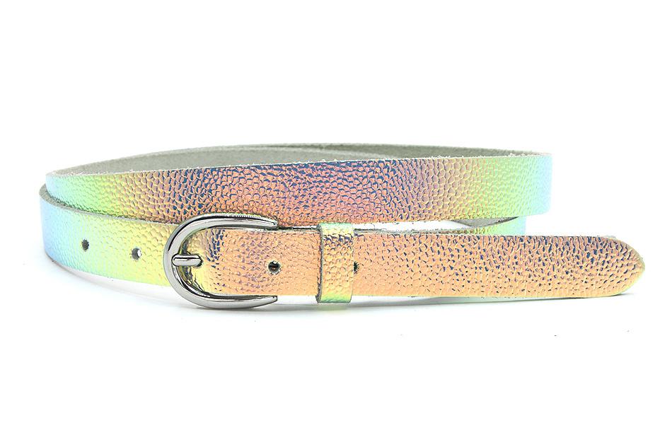 Thimbly Belts Damesceintuur zilver  met oliegloed effect