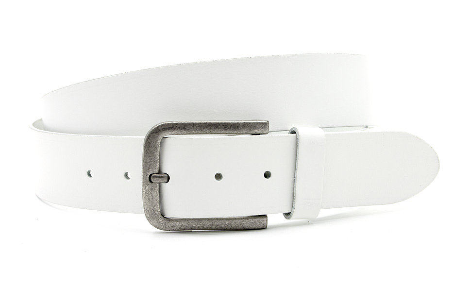 Thimbly Belts Jeans riem heren wit