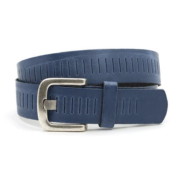 A-Zone Jeans blauwe broekriem met gleufjes