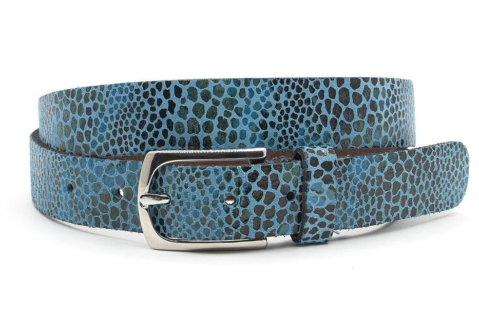 A-Zone Dames ceintuur blauw leopard
