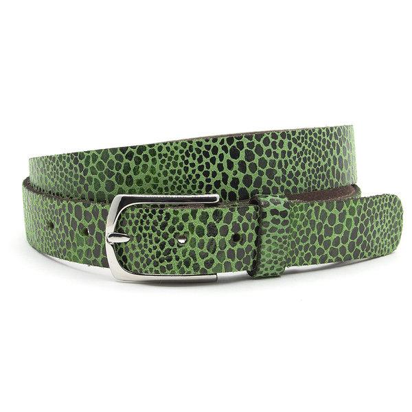 A-Zone Dames ceintuur groen leopard