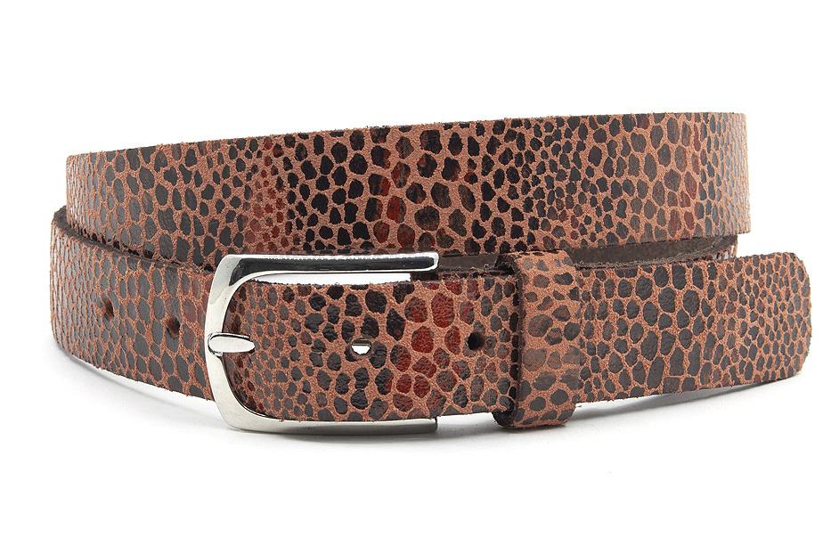A-Zone Dames ceintuur brique leopard