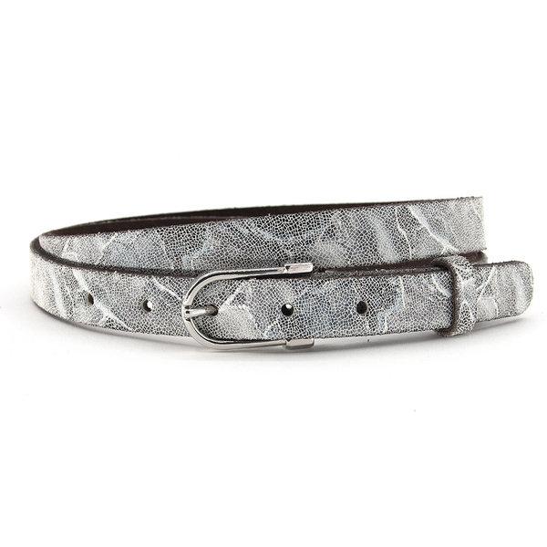 A-Zone Dames riem grijs/zilver