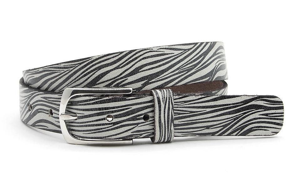 A-Zone Dames riem zwart/ wit zebra