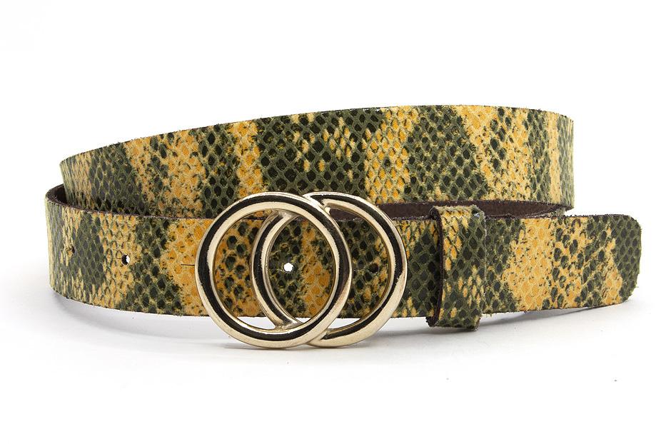 A-Zone Dames riem geel python