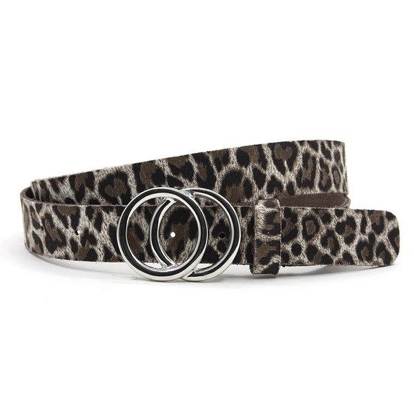A-Zone Dames ceintuur zwart/wit leopard