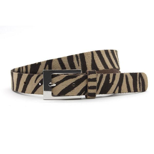A-Zone Dames ceintuur zebra donkerbruin/beige