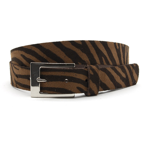 A-Zone Dames ceintuur zebra donker bruin/bruin