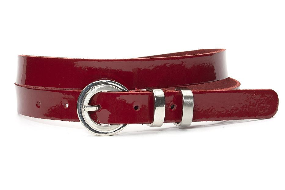 A-Zone Dames riem rood lakleer