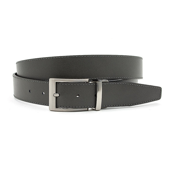 JV Belts Reversibel riem grijs/zwart