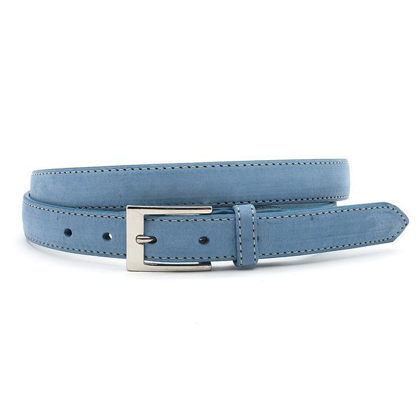 JV Belts Mooie licht blauwe nubuck dames ceintuur
