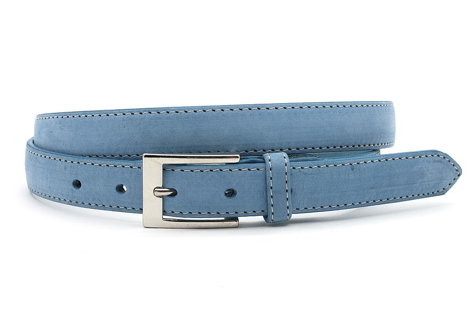 JV Belts Licht blauwe nubuck dames ceintuur