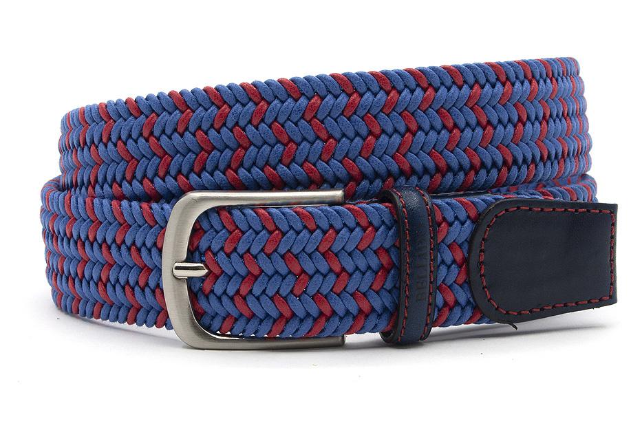 Miguel Bellido Sport Elastische heren riem blauw/rood
