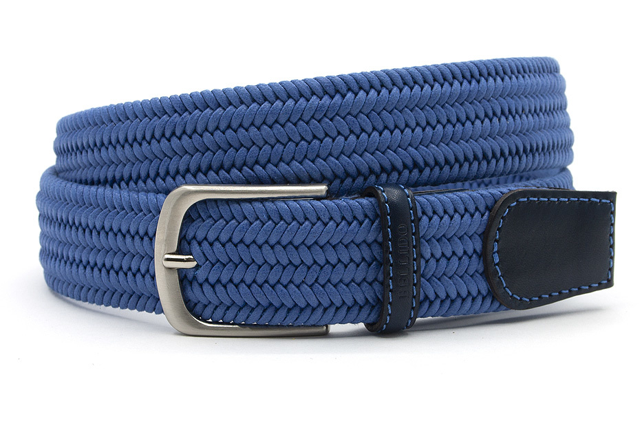 Miguel Bellido Sport Elastische heren riem jeans blauw