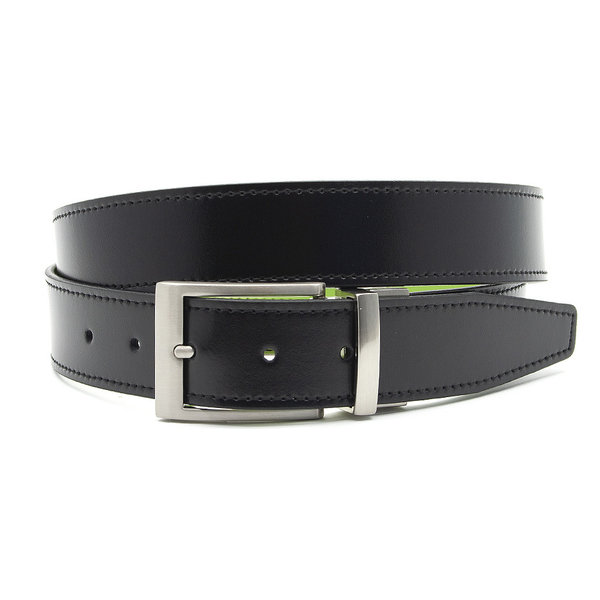 JV Belts Reversibel riem turquoise/zwart