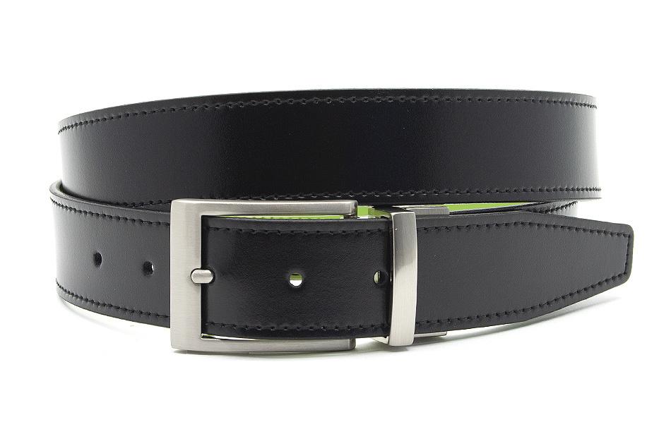 JV Belts Draaibare (reversibel) heren riem turquoise/zwart