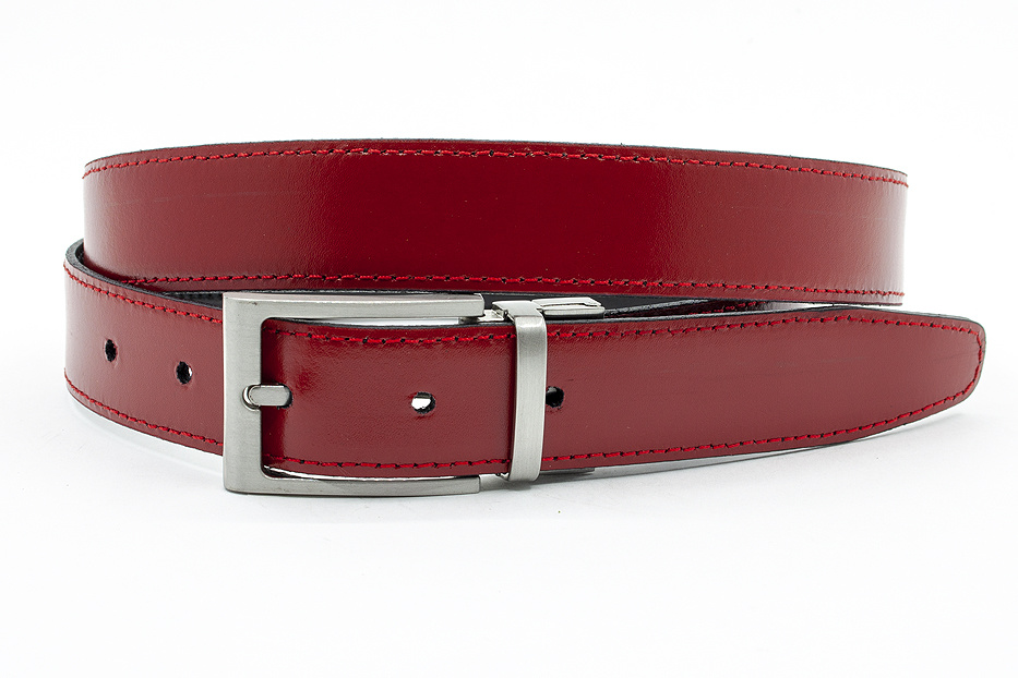 JV Belts Draaibare (reversibel) riem rood/zwart