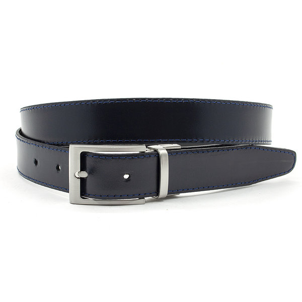 JV Belts Reversibel riem blauw/zwart