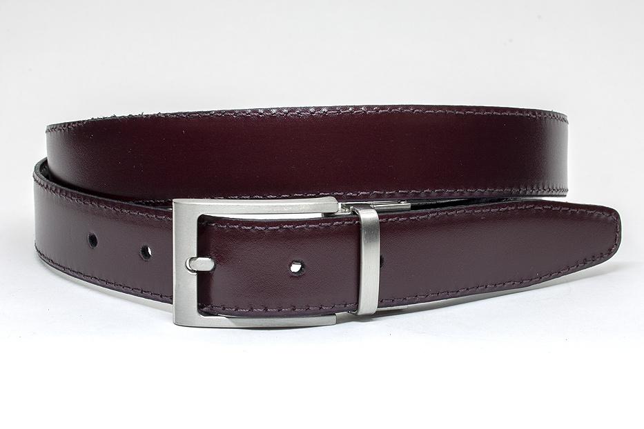 JV Belts Draaibare (reversibel) riem bordo/zwart