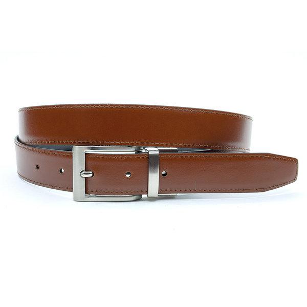 JV Belts Reversibel riem cognac/zwart
