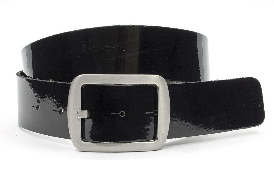 Thimbly Belts Dames ceintuur zwart lak