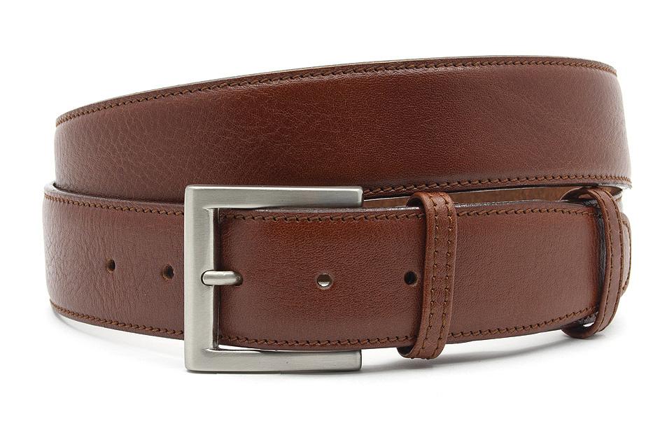 JV Belts Mooie rood bruine heren riem