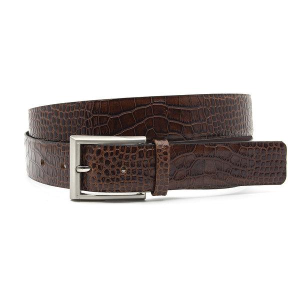 JV Belts Nette heren riem bruin croco