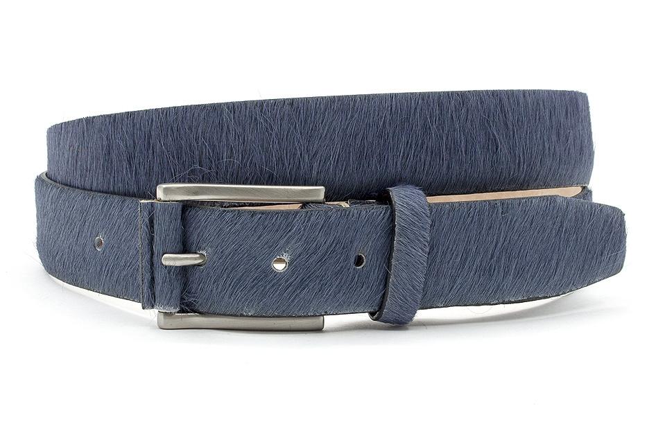 JV Belts Grijsblauwe hair-on riem unisex