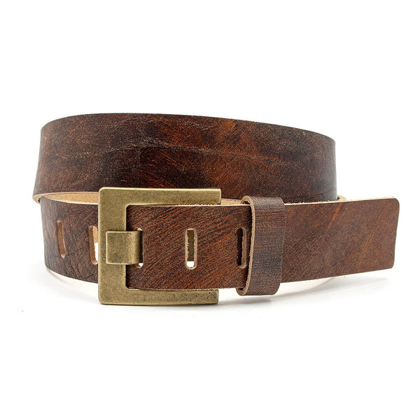 JV Belts Vintage jeans riem cognac