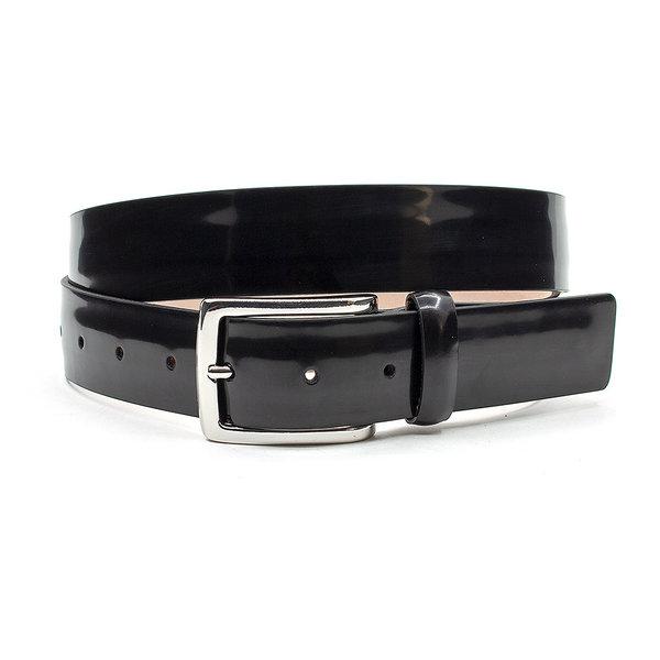 JV Belts Mooie Italiaanse heren riem zwart lak