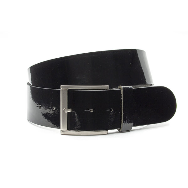 Thimbly Belts Brede broekriem zwart lak