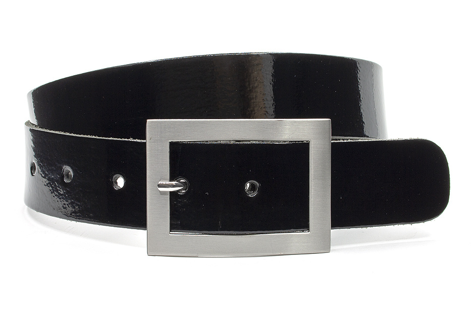 Thimbly Belts Broekriem zwart lak