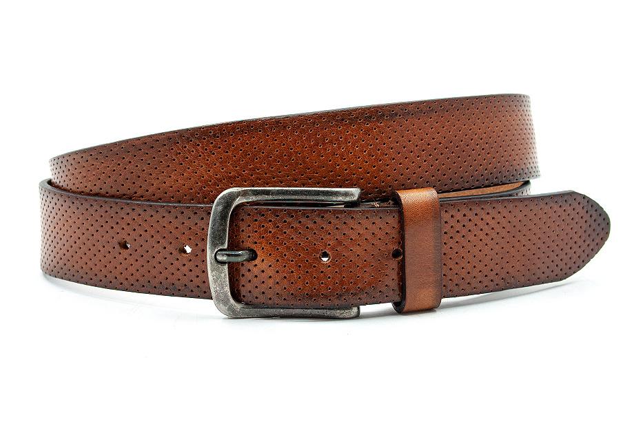 Thimbly Belts Cognac kleurige unisex riem