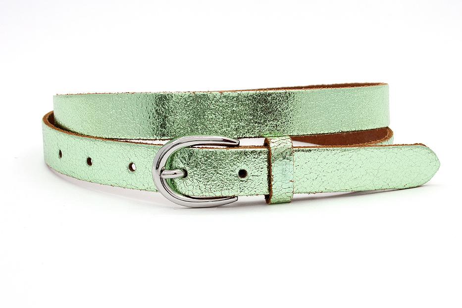 Thimbly Belts Damesriem groen metallic