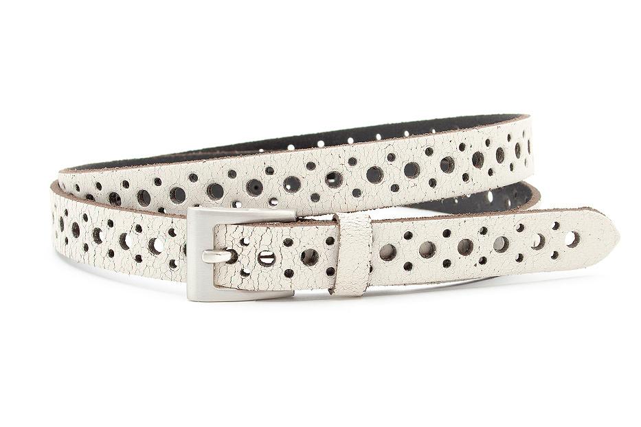 Thimbly Belts Damesceintuur wit crackle