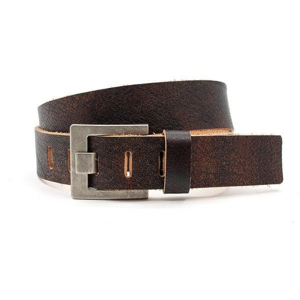 JV Belts Jeans riem vintage bruin