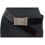 Thimbly Belts Zwarte lak ceintuur