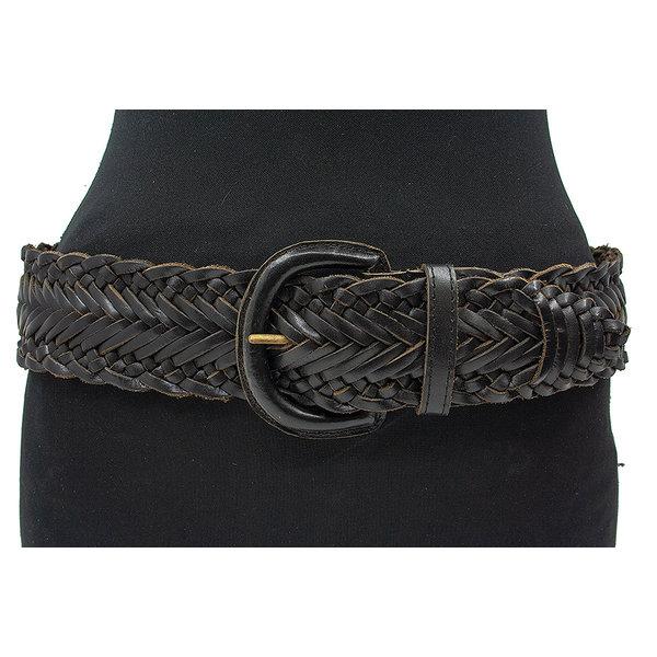 Thimbly Belts Vlechtceintuur zwart