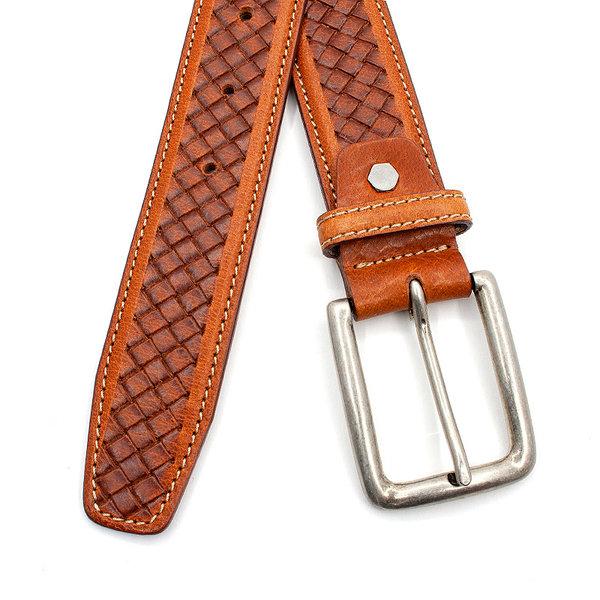 Thimbly Belts Toffe cognac dames/herenriem
