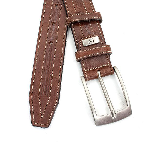 JV Belts Elegante bruine heren riem